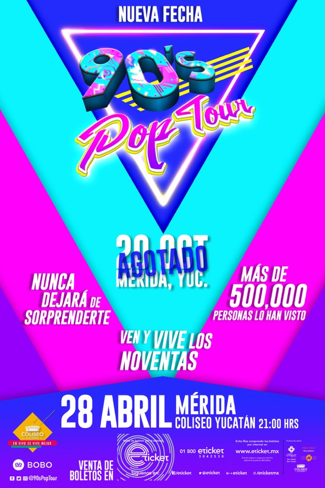 90s Pop Tour Mérida vertical